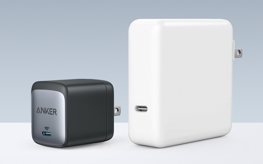Anker Nano II Charger compared to Apple brand charger