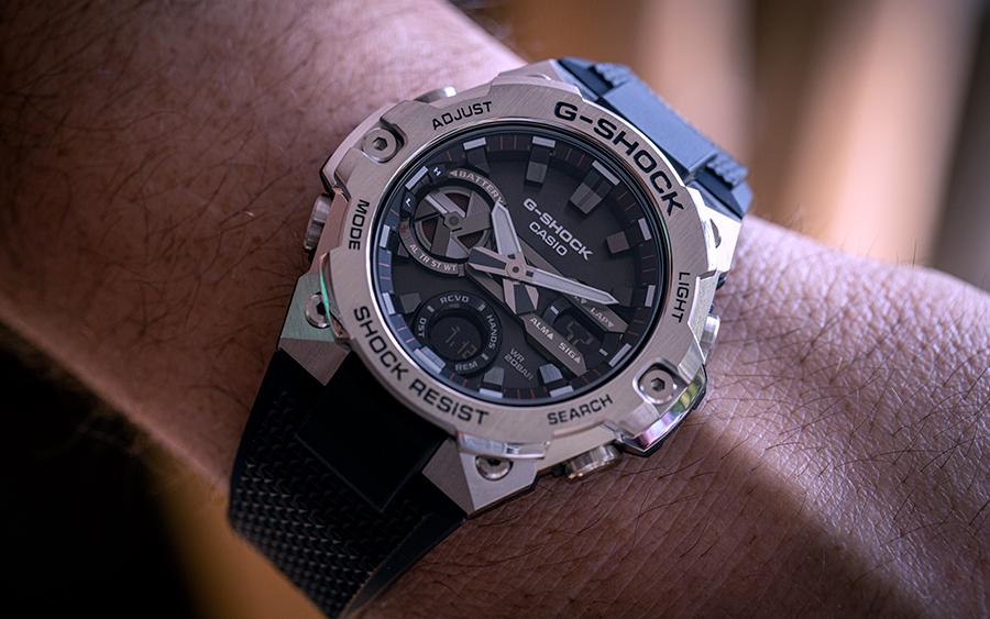Casio G-SHOCK GSTEEL GSTB400 on wrist