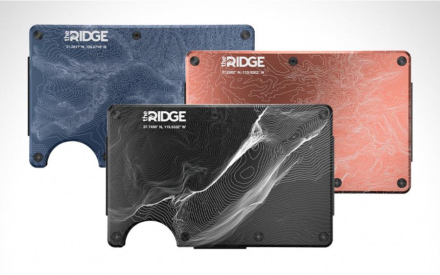 Ridge Topographic Wallets