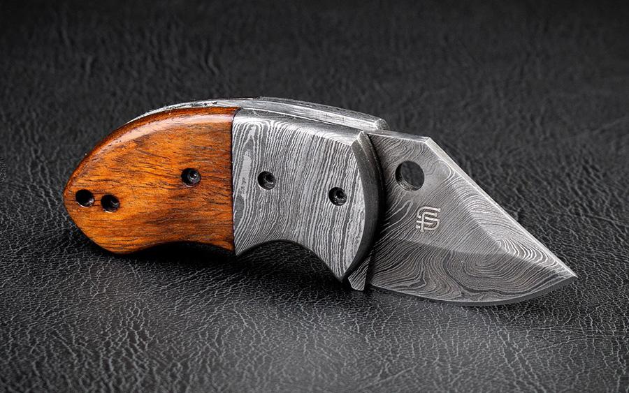Lightoller Damascus Steel EDC Folding Knife